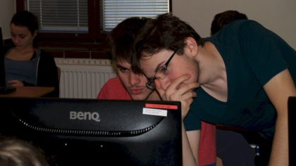 Členové kroužku při Internetové matematické olympiádě