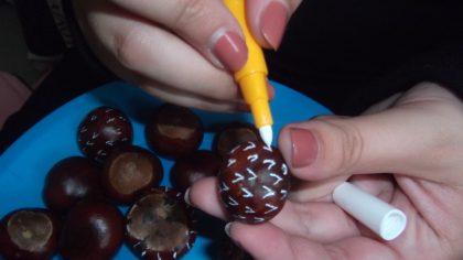 Malování kaštánkových ježečků